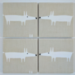 Set of 4 Wooden Placemats in Scion Little Mr Fox in Snow